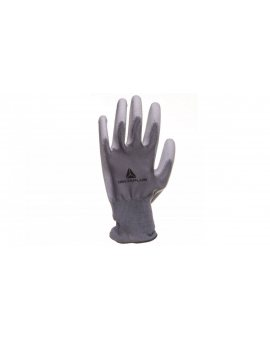 Rękawice dziane z poliestru (100%), dłoń powlekana Poliuretanem, ścieg 13 szare rozmiar 9 VE702PG09