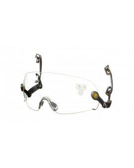 Okulary ochronne z poliwęglanu, bezbarwne, montowane do hełmu przemysłowego, Uv400, Ab*, Ar* FUEGOARIN