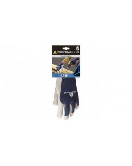 Rękawice ze Skóry Koziej kolor biało-niebieski 10 DPCT40210
