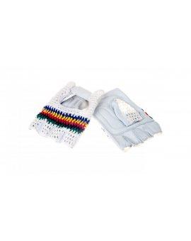 Rękawice bez palców ze skóry licowej jagnięcej, strona grzbietowa z dzianiny rozmiar 11 50MAC11