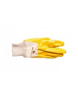 Rękawice z lekkiego Nitrylu na wkładzie z dżerseju, góra wentylowana biało-żółte rozmiar 8 NI01508