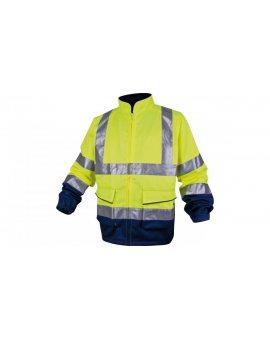 Bluza ostrzegawcza Panostyle Hv z poliestru (46%) i bawełny (54%), 260G, Kl. 2 żółto-granatowa rozmiar S PHVESJMPT