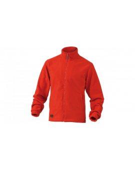 Bluza z polaru poliestru, 280G czerwona rozmiar XL VERNOROXG