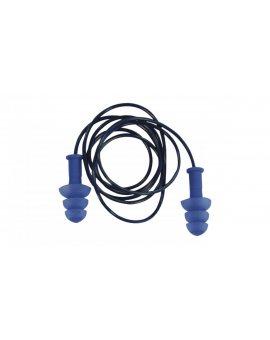 Opakakowanie 10 par termoplastycznych magnetycznie wykrywalnych wkładek do uszu sznurk.+pudełko kol.nieb. TETE CONICFIRDE010BL