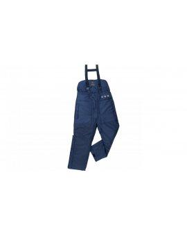 Spodnie ocieplane z poliestru (85%) i bawełny (15%) ochrona nerek elastyczne szelki kolor granatowy rozmiar XL CORP AUST2BLXG