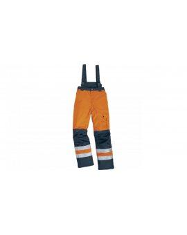 Spodnie ostrzegawcze ocieplane z poliestru Oxford powlekanego PU kolor pomarańczowy fluo-granatowy rozmiar XXL CORPFARGOHVORXX