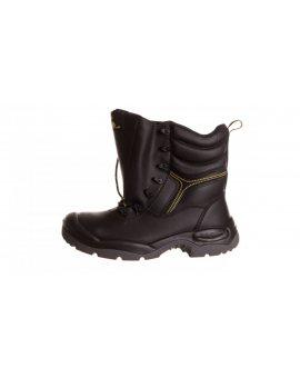 Buty robocze ze skórzany krupon barwiony gładki amagnetyczne S3 SRCkolor czarny rozmiar 44 CALYPS3NO44