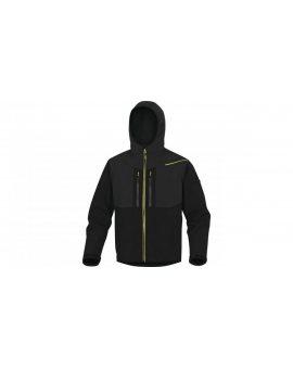Kurtka Softshell z poliestru i elastanu kolor czarno-żółty rozmiar L HORT2NJGT