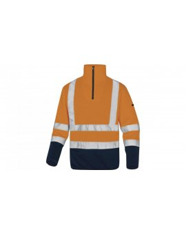 Bluza polarowa ostrzegawcza imitacja swetra kolor pomarańczowo-granatowy rozmiar M MARHVOMTM