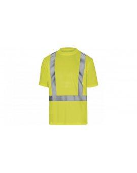 T-shirt ostrzegawczy z poliestru kolor żółty rozmiar XXL COMETJAXX