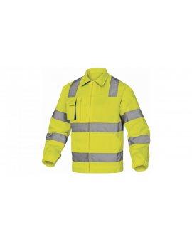 Ostrzegawcza bluza robocza z bawełny i poliestru kolor żóło-szary rozmiar L M2VHVJGGT