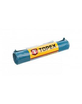 Worki na ciężkie odpady 80 L błękitne super mocne wymiary 60x90cm - grubość 100 mic folia LDPE 23B257 /5szt./