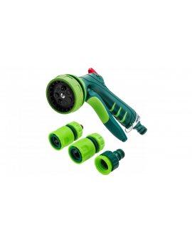 Zestaw z pistoletem zraszającym złączkami przyłączem do kranu 1/2'' 15G713