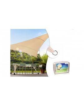 Żagiel ogrodowy zacieniacz UV poliester 5m trójkąt kremowy hydrofobowa powierzchnia GreenBlue GB502