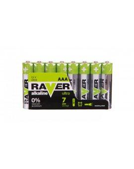 Bateria alkaliczna LR03 / AAA 1, 5V RAVER ULTRA B79118 /opakowanie 8szt./
