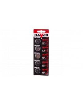 Bateria litowa RAVER CR2032 /blister 5szt./ B7332