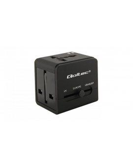 Uniwersalny adapter podróżny 10.5W 5V 2.1A 2xUSB 50133