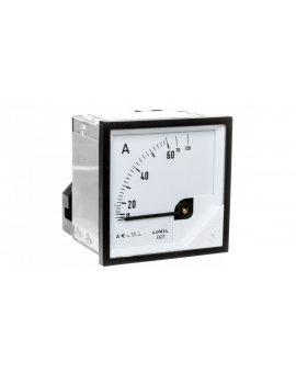 Amperomierz analogowy tablicowy 60/120A 72x72mm IP50 C3 K=90 st. EA17N F21200000000