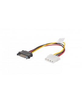 Kabel SATA zasilający (M) ->MOLEX(F) 15cm CA-SAHD-10CU-0015