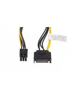 Kabel SATA zasilający (M) ->PCI EXPRESS 6PIN 20cm CA-SA6P-10CU-0020