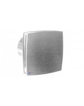 Wentylator osiowy fi 100 230V 14W 88m3/h 33dB standard szczotkowane aluminium 100LDAMET