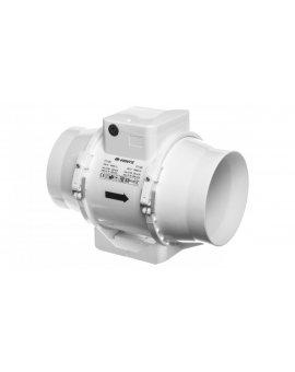 Wentylator kanałowy fi 125 230V 37W 280m3/h 37dB o przepływie mieszanym TT125