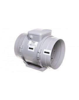 Wentylator kanałowy fi 200 230V 108W 1040m3/h 52dB o przepływie mieszanym TTPRO200
