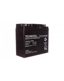 Akumulator bezobsługowy AGM 18Ah 12V Technocell 18TC