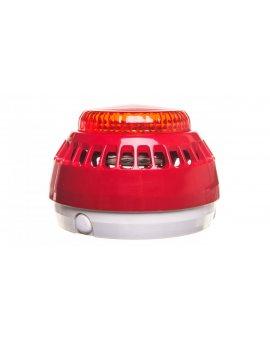 Sygnalizator akustyczno-optyczny 16-32, 5V DC 100dB IP21C czerwony SA-K7