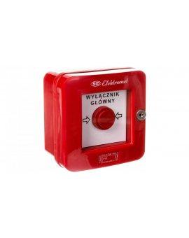 Wyłącznik alarmowy samoczynny natynkowy z zamkiem WGZ-1s IP-55 921490