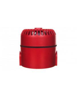 Sygnalizator akustyczny ROLP 9-28VDC 10dB czerwony głęboki 32 tony CNBOP ROLP/SV/R/D 540503FULL-0403X