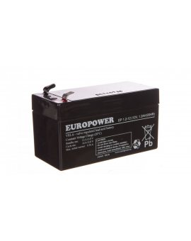Akumulator bezobsługowy AGM 1, 2Ah 12V Europower EP 1, 2-12