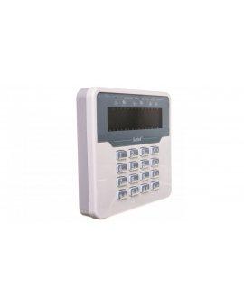 Klawiatura obsługi systemu alarmowego, LCD, wersja M, biała obudowa, do systemu Versa, Satel VERSA-LCDM-WH