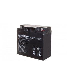 Akumulator bezobsługowy AGM 17Ah 12V Europower EP 17-12
