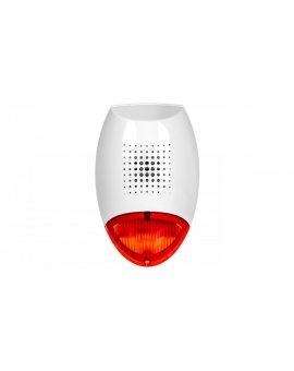 Sygnalizator zewnętrzny akustyczno-optyczny czerwony przetwornik dynamiczny SD-3001 R