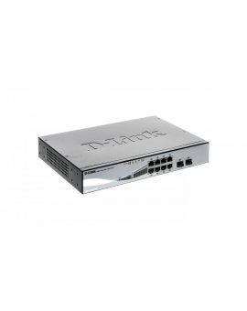 Switch PoE GigaBit, 8 porty GB, 8xPoE, 2xSFP 45W zarządzalny 240VAC DGS-1210-08P