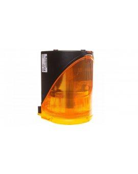 Syrena wielotonowa z sygnalizacją błyskową LED-podwójną żółtą 24V AC/DC 444.300.75