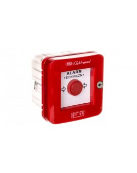 Wyłącznik alarmowy samoczynny podtynkowy z zamkiem i młoteczkiem WAZp-1s IP-55 921501
