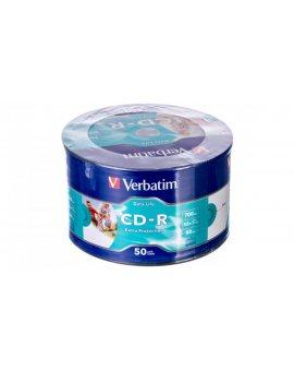 Płyta CD-R VERBATIM 700MB x52 EXTRA PROTECTION PRINTABLE WRAP /50szt./