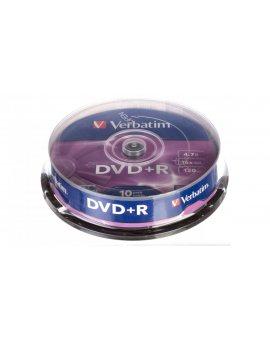 Płyta DVD+R VERBATIM 4, 7GB x16 MATT SILVER /CAKE 10szt./