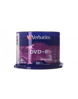 Płyta DVD+R VERBATIM 4, 7GB x16 MATT SILVER /CAKE 50szt./