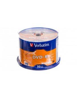 Płyta DVD-R VERBATIM 4, 7GB x16 MATT SILVER /CAKE 50szt./