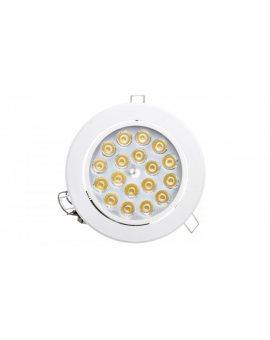 Oprawa downlight LED 18W biały okrągly 1260lm 3000K 230V LAMPRIX LP-11-026