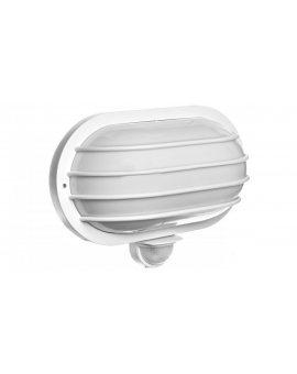 Oprawa oświetleniowa ścienna SOLANO z czujnikiem ruchu 180 stopni 60W E27 IP44 poliwęglan mleczny biała OR-OP-307WE27ZMR
