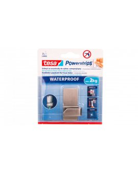 Haczyk samoprzylepny POWERSTRIPS WATERPROOF 1szt. do szczoteczki metal 59708-00004-00 /6szt./