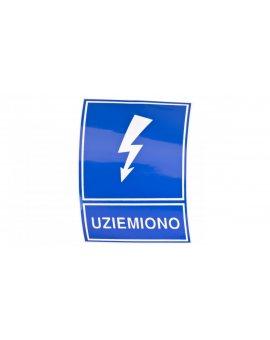 Tabliczka /znak informacyjny/ TZI 74x105S /UZIEMIONO/ E04TZ-01041120300 /10szt./