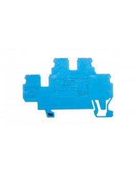 Złączka szynowa 2-piętrowa 2,5mm2 N / N niebieska 870-509