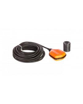 Wyłącznik pływakowy z przewodem NEOPREN 15m do wody czystej i szarej z przeciwwagą LVFSN1W15