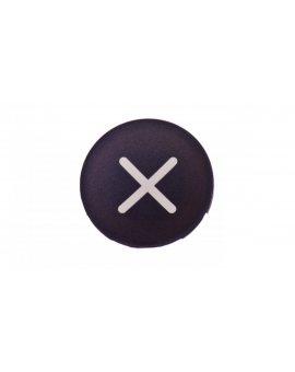 Wkładka przycisku 22mm płaska czarna z symbolem ZWIEKSZANIE M22-XD-S-X4 218170