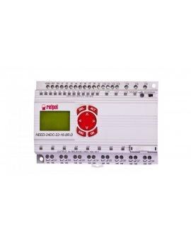 Przekaźnik programowalny 24V DC 16we, 8wy z wyświetlaczem i klawiaturą NEED-24DC-22-16-8R-D 859362